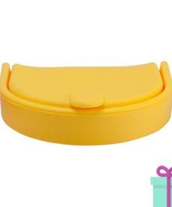 Silliconen portemonnee fashion geel bedrukken