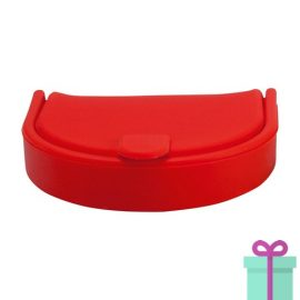 Silliconen portemonnee fashion rood bedrukken
