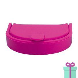 Silliconen portemonnee fashion roze bedrukken