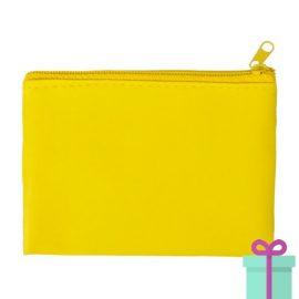 Sleutel etui geel bedrukken