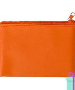 Sleutel etui oranje bedrukken