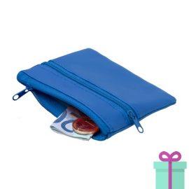 Sleutel etui portemonnee blauw bedrukken