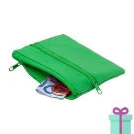 Sleutel etui portemonnee groen bedrukken