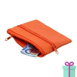 Sleutel etui portemonnee oranje bedrukken