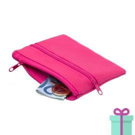 Sleutel etui portemonnee roze bedrukken