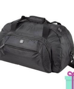Sportbag duffelbag Andre Phillipe zwart bedrukken
