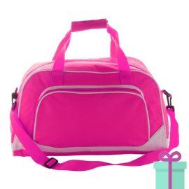 Sporttas basic roze bedrukken