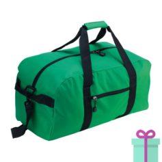 Sporttas groot met schouderriem groen bedrukken
