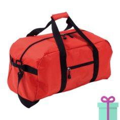 Sporttas groot met schouderriem rood bedrukken