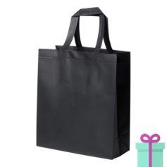Stevige shopper met bodem zwart bedrukken