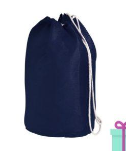 Strandtas rond goedkoop katoen blauw bedrukken