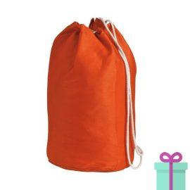 Strandtas rond goedkoop katoen oranje bedrukken