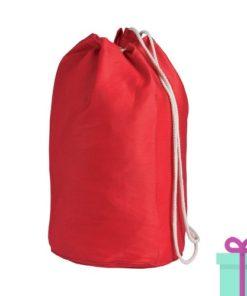 Strandtas rond goedkoop katoen rood bedrukken