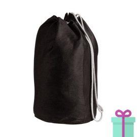 Strandtas rond goedkoop katoen zwart bedrukken