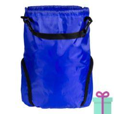 Trekkoord tas goedkoop bedrukken blauw bedrukken