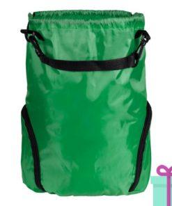 Trekkoord tas goedkoop bedrukken groen bedrukken