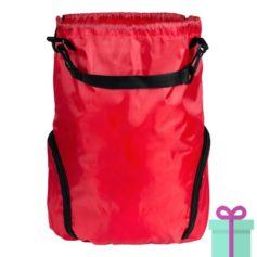 Trekkoord tas goedkoop bedrukken rood bedrukken