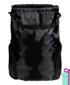 Trekkoord tas goedkoop bedrukken zwart bedrukken