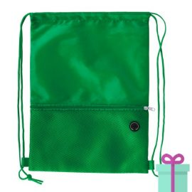 Trekkoord tas hoofdtelefoon uitgang groen bedrukken