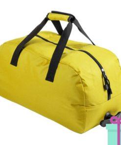 Trolley sporttas geel bedrukken