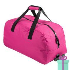 Trolley sporttas roze bedrukken