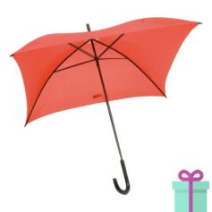 Vierkante paraplu budget rood bedrukken