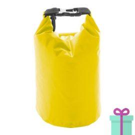 Waterdichte tas geel bedrukken
