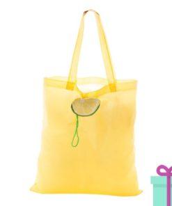 Winkeltas opvouwbaar citroen bedrukken