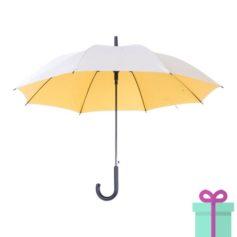 Zilveren paraplu haak automatisch geel bedrukken