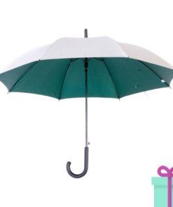 Zilveren paraplu haak automatisch groen bedrukken