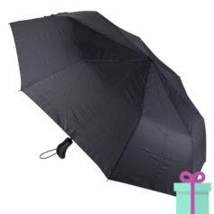 Zwarte designer paraplu Andre Phillippe in verpakking bedrukken