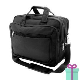 Zwarte laptoptas extra bescherming bedrukken