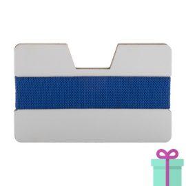 kaarthouder creditcardformaat blauw bedrukken