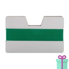 kaarthouder creditcardformaat groen bedrukken