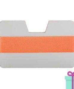 kaarthouder creditcardformaat oranje bedrukken