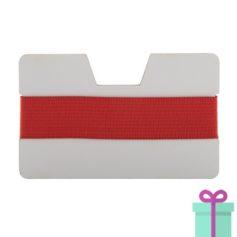 kaarthouder creditcardformaat rood bedrukken