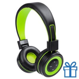 Bluetooth koptelefoon handsfree functie groen bedrukken