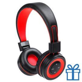 Bluetooth koptelefoon handsfree functie rood bedrukken