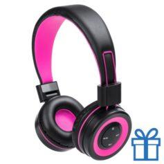Bluetooth koptelefoon handsfree functie roze bedrukken