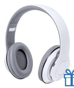 Bluetooth koptelefoon opvouwbaar mp3 wit bedrukken