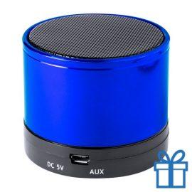 Bluetooth luidspreker accu aluminium blauw bedrukken