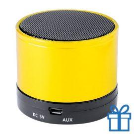 Bluetooth luidspreker accu aluminium geel bedrukken