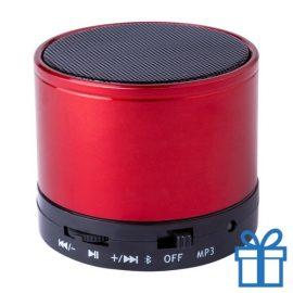 Bluetooth luidspreker accu aluminium rood bedrukken