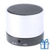 Bluetooth luidspreker accu aluminium wit bedrukken