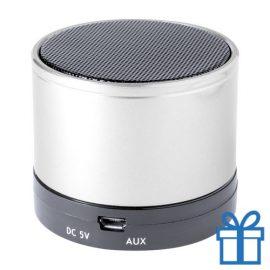 Bluetooth luidspreker accu aluminium zilver bedrukken
