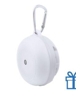 Bluetooth luidspreker accu karabijnhaak wit bedrukken