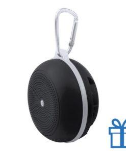 Bluetooth luidspreker accu karabijnhaak zwart bedrukken