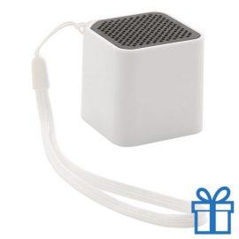 Bluetooth luidspreker camera bediening wit bedrukken