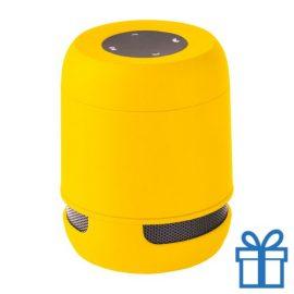 Bluetooth luidspreker handsfree belfunctie geel bedrukken