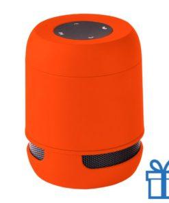 Bluetooth luidspreker handsfree belfunctie oranje bedrukken